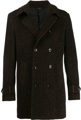 Tonello herringbone double-breasted coat