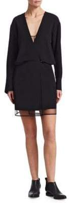 Alexander Wang Tulle Shadow Mini Dress