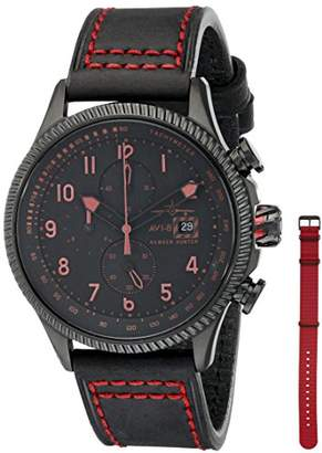 Hunter AVI-8 Men's AV-4036-03 Hawker Analog Display Japanese Quartz Red Watch
