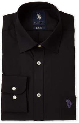 U.S. Polo Assn. Black Slim Dress Shirt