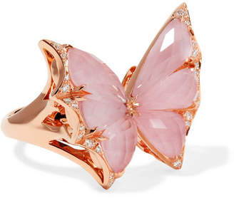 Stephen Webster Fly by Deco Drive Marquis Pink Sapphire Ring, Size 6