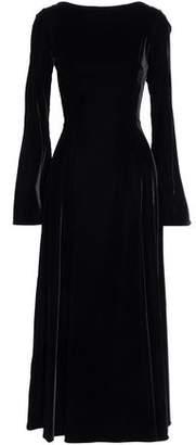 Derek Lam 10 Crosby Lace-Up Velvet Midi Dress