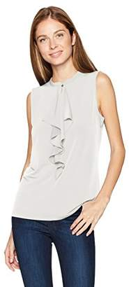 Jones New York Women's Slvless Mandarin Collar W/Cf Drape