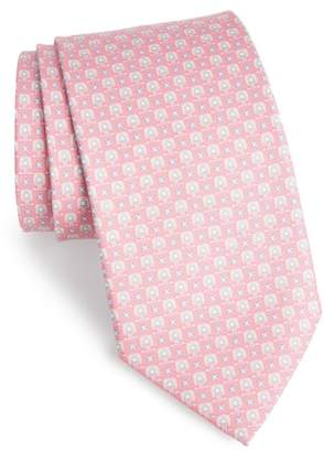Salvatore Ferragamo Favola Print Silk Tie