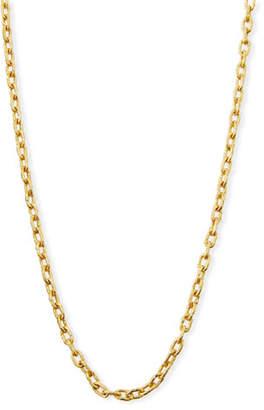 """Elizabeth Locke 19k Gold Link Necklace, 35""""L"""