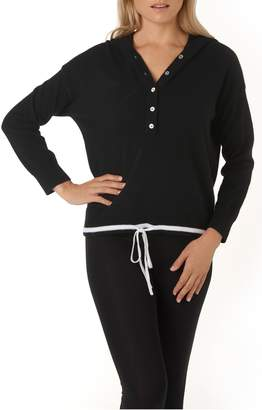 The White Company Contrast Cashmere Hoodie