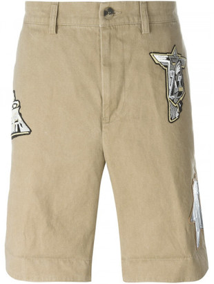 Loewe patched bermuda shorts $650 thestylecure.com