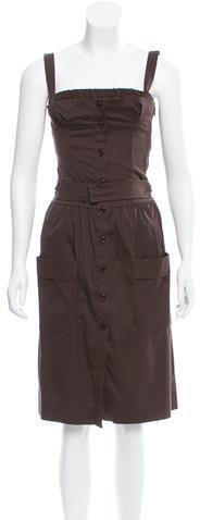 pradaPrada Belted A-Line Dress