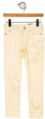 Scotch & Soda Girls' Five Pocket Straight-Leg Jeans