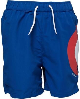 Ben Sherman Boys Target Logo Board Shorts Cobalt