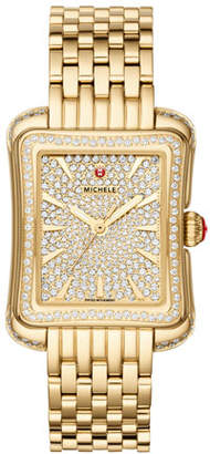 Michele 16mm Deco Moderne Diamond Pave Watch