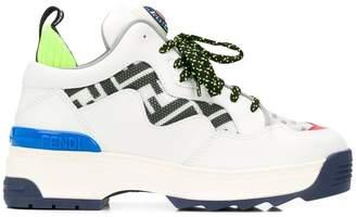 Fendi Zucca panel sneakers