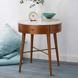 west elm Penelope Grand Nightstand - Acorn w/ Marble Top