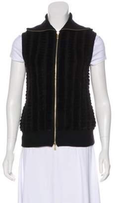 Gucci Cashmere & Fur Vest Black Cashmere & Fur Vest