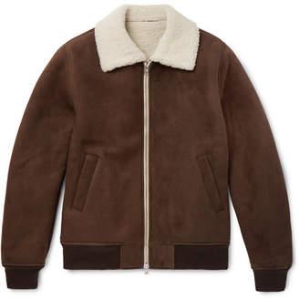 De Bonne Facture Shearling Bomber Jacket