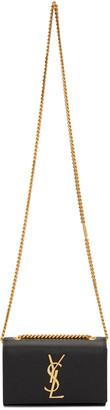 Saint Laurent Black Small Monogram Kate Satchel $1,550 thestylecure.com