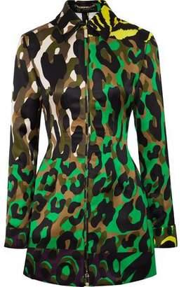 Versace Printed Satin-Twill Jacket