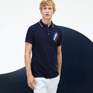 Lacoste Men's Tricolor Collection Design Two-Ply Petit Pique Polo