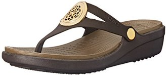 crocs Women's Sanrah Circle Flip Wedge $24.99 thestylecure.com