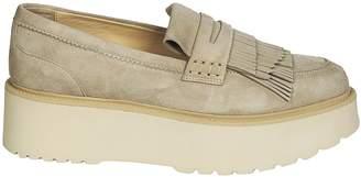 Hogan Fringed Platform Loafers
