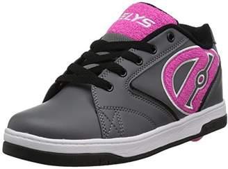 Heelys Girl's Propel 2.0 Running Shoes, Charcoal/Pink Terry Logo