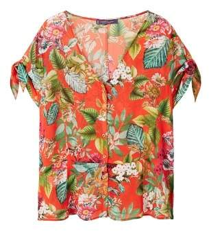 Violeta BY MANGO Tropical print blouse