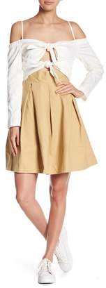 Endless Rose Tie Front Fit & Flare Dress