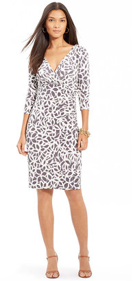 Lauren Ralph Lauren Long-Sleeve Faux-Wrap Sheath Dress