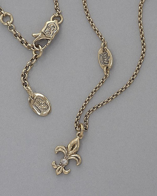 Juicy Couture Fleur De Lis Wish Necklace