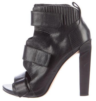 Alexander WangAlexander Wang Embossed Leather Ankle Boots