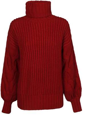P.A.R.O.S.H. Ribbed Knit Turtleneck Sweater
