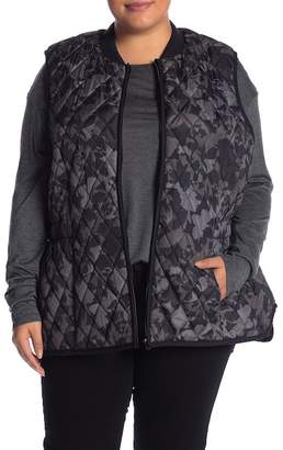 Joe Fresh Camo Print Quilted Vest (Plus Size)