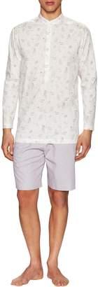 La Perla Men's Cotton Night Shirt and Shorts Set