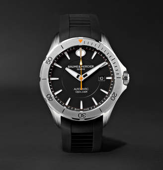 Baume & Mercier Clifton Club Automatic 42mm Stainless Steel and Rubber Watch
