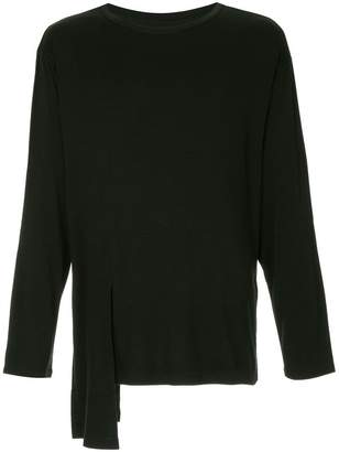 Yohji Yamamoto draped long-sleeve T-shirt
