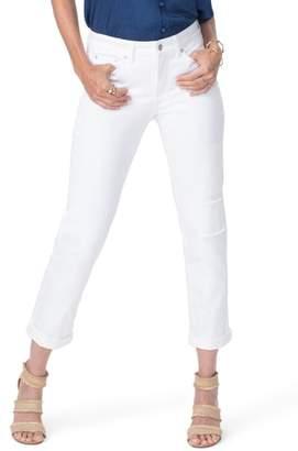 NYDJ High Waist Patchwork Boyfriend Jeans