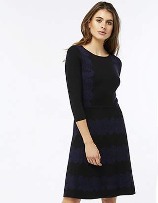 Monsoon Joanna Jacquard Fit & Flare Dress