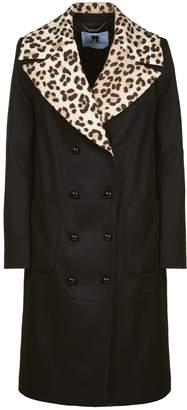 Blumarine Leopard Double Breasted Coat