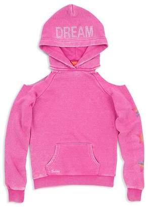 Butter Shoes Girls' Unicorn Dream Cold-Shoulder Hoodie - Big Kid