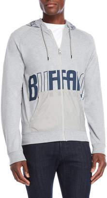Buffalo David Bitton Logo Zip-Up Terry Hoodie