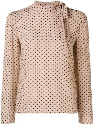 RED Valentino polka dotted longsleeved blouse