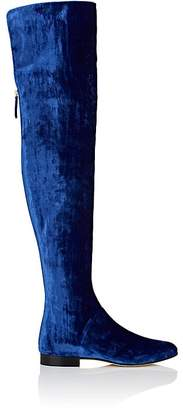 Alberta Ferretti Women's Velvet Over-The-Knee Boots