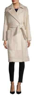 Max Mara Ford Wool & Angora Fur Belted Coat