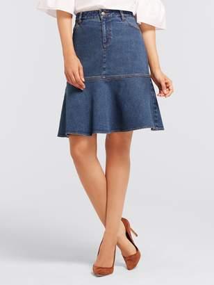 Draper James Denim Flare Skirt