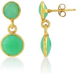 Auree Jewellery - Isla Apple Green Chysoprase & Gold Earrings