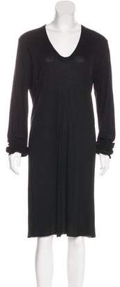 Rick Owens Long Sleeve Knee-Length Dress