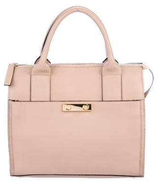 Marni Small Leather Push-Lock Tote