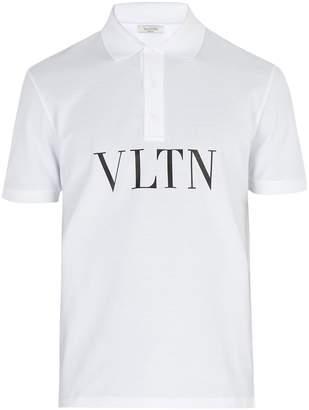 Valentino Logo-print cotton-piqué polo shirt