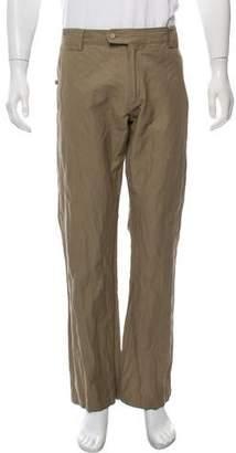 John Varvatos Herringbone Pattern Wide-Leg Pants