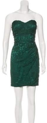 Dolce & Gabbana Strapless Lace Dress green Strapless Lace Dress